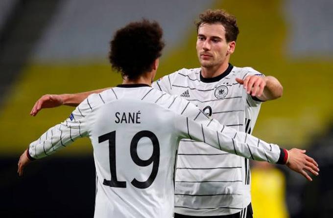 Sane gỡ hòa 1-1 cho Đức ở phút 23