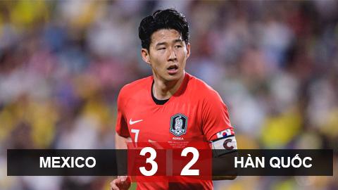Kết quả Mexico 3-2 Hàn Quốc: Son Heung-Min kiến tạo, Hàn Quốc vẫn thua đau trước Mexico
