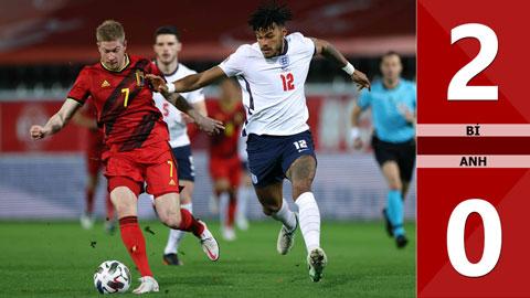 Bỉ 2-0 Anh (Nations League 2020/21 - League A bảng 2)