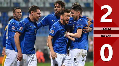 Italia 2-0 Ba Lan (Nations League 2020/21 - League A bảng 1)