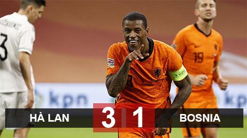 Kết quả Hà Lan 3-1 Bosnia-Herzegovina: Sao Liverpool lập cú đúp, Hà Lan vẫn không chiếm được ngôi đầu