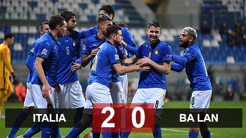 Kết quả Italia 2-0 Ba Lan: Azzurri đẩy nhóm 1 League A lên cao trào