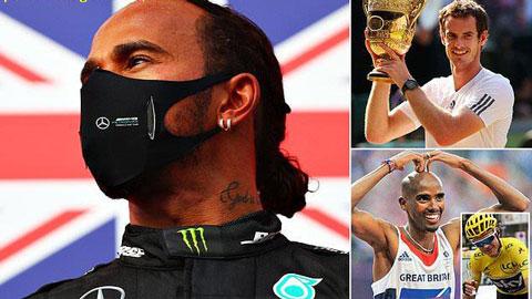 Lewis Hamilton trở thành VĐV vĩ đại nhất Vương quốc Anh?