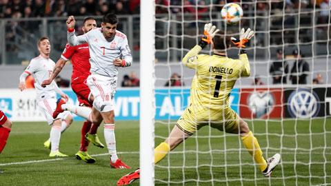 Alvaro Morata tịt ngòi suốt 1 năm qua trong màu áo ĐT Tây Ban Nha