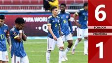 Ecuador 6-1 Colombia (Vòng loại World Cup 2022 khu vực Nam Mỹ)