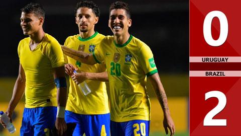 Uruguay 0-2 Brazil (Vòng loại World Cup 2022 khu vực Nam Mỹ)