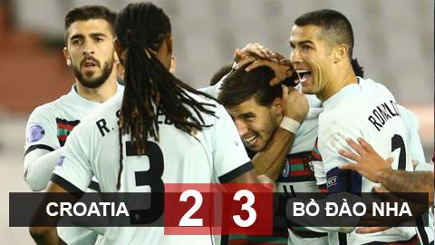 Kết quả Croatia 2-3 Bồ Đào Nha: Ronaldo im tiếng, Bồ Đào Nha ngược dòng nhờ trung vệ của Man City