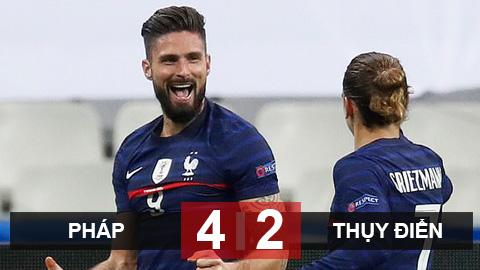Kết quả Pháp 4-2 Thụy Điển: Giroud lập cú đúp, Pháp bất bại tại vòng bảng Nations League