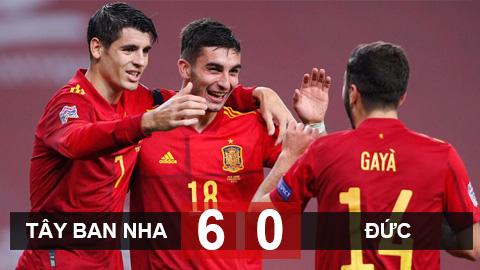 Kết quả Tây Ban Nha 6-0 Đức: Ferran Torres lập hat-trick, Tây Ban Nha hủy diệt Đức