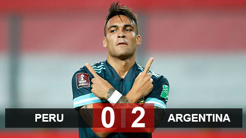 Kết quả Peru 0-2 Argentina: Messi không ghi bàn, Martinez tỏa sáng giúp đội khách chiến thắng