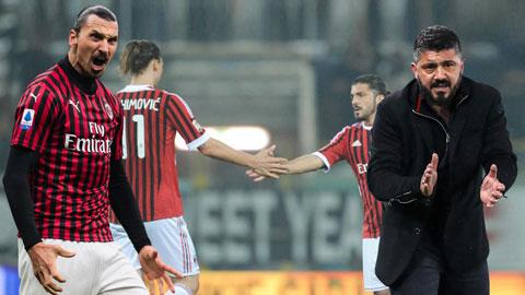 Gattuso và Ibrahimovic từng là đồng đội trong 2 năm tại Milan