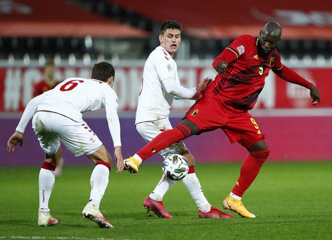 Lukaku đang thăng hoa trong màu áo tuyển Bỉ