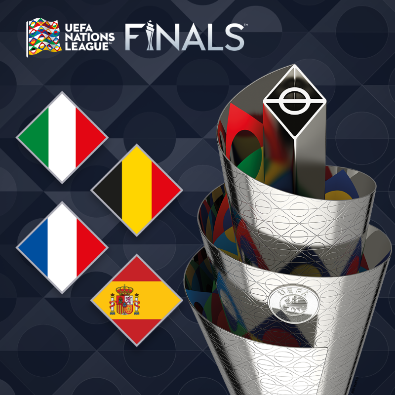 Bỉ, Pháp, Tây Ban Nha và Italia sẽ tham dự VCK Nations League