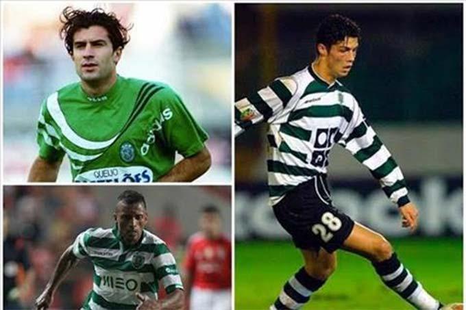 Figo, Nani và Ronaldo đều là những ngôi sao chạy cánh trưởng thành từ Sporting Lisbon