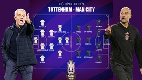 Man City và Tottenham ra sân với sơ đồ nào ở đại chiến?