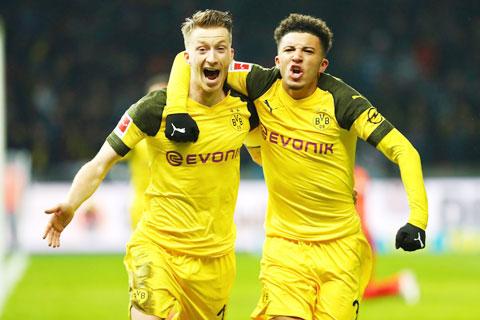Thủ quân Marco Reus (trái) và đồng đội sẽ có trận bất bại thứ 7 liên tiếp trước Hertha