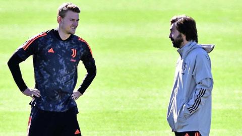 Sự trở lại của De Ligt (trái) có thể là chìa khóa giúp HLV Pirlo đánh bại Cagliari