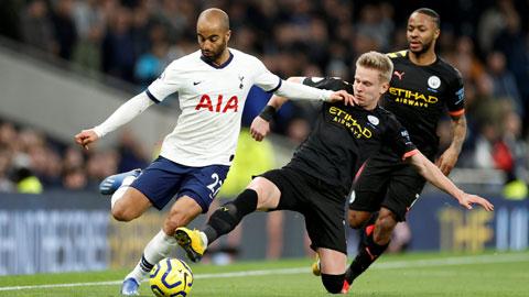 Tottenham (áo sáng)sẽ tiếp mạch thăng hoa bằng cách giật 3 điểm trước Man City