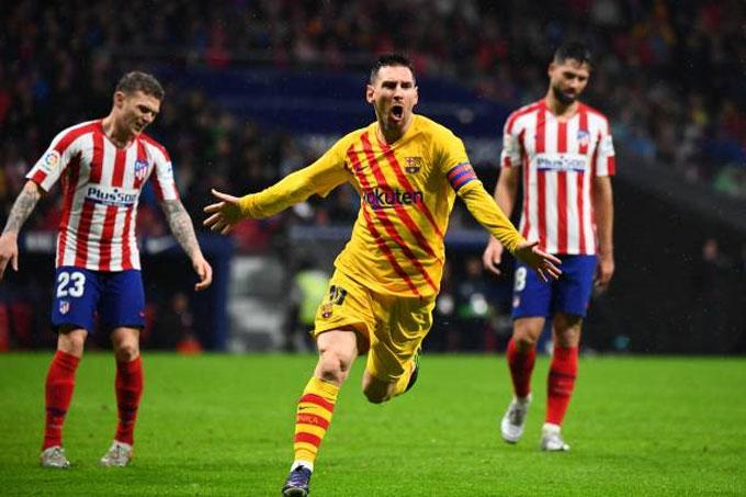 Messi rất có duyên với mành lưới Atletico