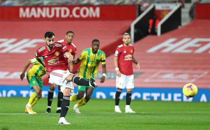 Bruno Fernandes ghi bàn duy nhất của trận đấu