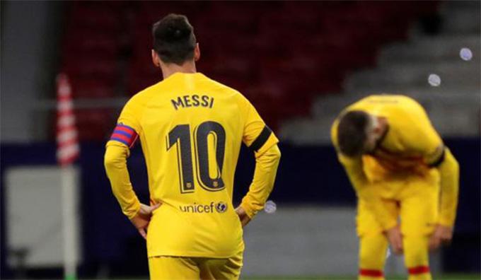 Barca đã tụt xuống vị trí thứ 10 trên BXH