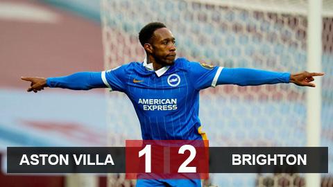 Kết quả Aston Villa 1-2 Brighton: Welbeck sục bóng tinh tế giúp Brighton hạ đẹp Villa