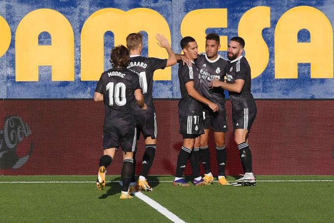Diaz mở tỷ số cho Real ngay phút thứ 3