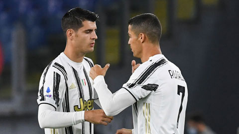 Ronaldo sẽ phá kỷ lục nhờ người đá cặp Morata ngày càng ăn ý