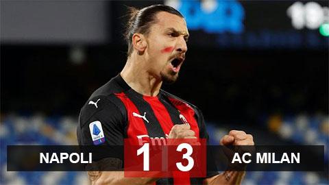 Kết quả Napoli 1-3 Milan: Rossoneri đòi lại ngôi đầu