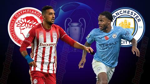 Nhận định bóng đá Olympiakos vs Man City, 00h55 ngày 26/11: Mũi tên trúng hai đích