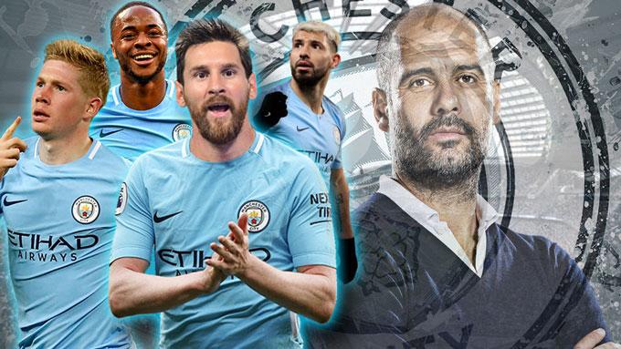 Nếu có Messi, hàng công của Man City sẽ cực khủng khiếp