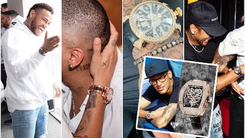 Neymar & thú chơi đồng hồ  hàng hiệu 'cực khủng'
