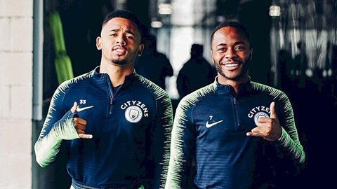 Man City sắp gia hạn với Sterling và Jesus