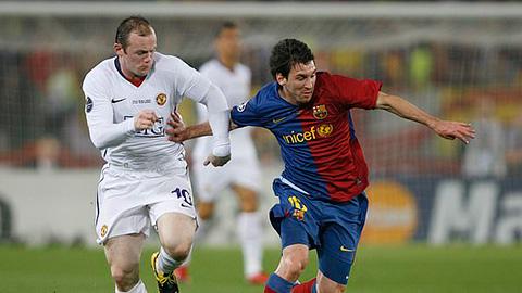 Rooney từng mơ gia nhập Barca để đá cặp với Messi