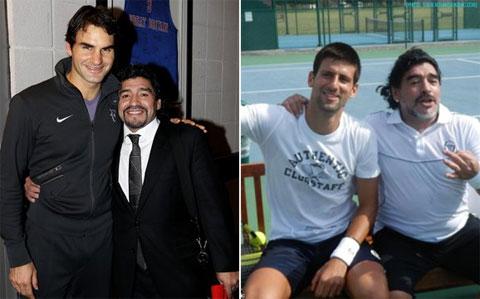 Djokovic cũng đã có dịp gặp gỡ và nói chuyện với Maradona