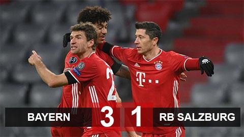 Kết quả Bayern 3-1 RB Salzburg: Hùm xám vào vòng knock-out với ngôi đầu bảng A