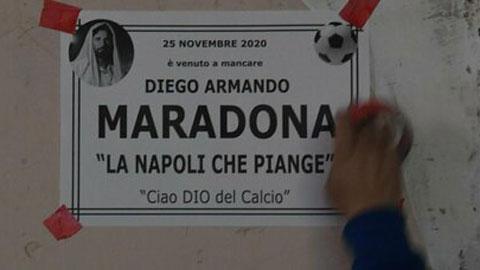 Người Napoli viết vĩnh biệt Maradona