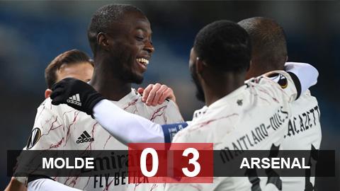 Kết quả Molde 0-3 Arsenal: Pepe tỏa sáng, Arsenal nhẹ nhàng vào vòng 1/16