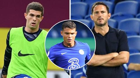 Lampard đón tin vui từ Pulisic, đưa ra gợi ý về tương lai Thiago Silva