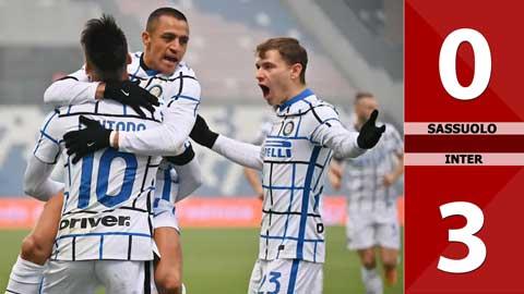 Sassuolo 0-3 Inter Milan (Vòng 9 Serie A 2020/21)