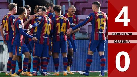 Barcelona 4-0 Osasuna (Vòng 10 La Liga 2020/21)