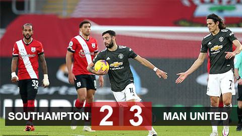 Kết quả Southampton 2-3 Man United: Cavani & Bruno chói sáng, Quỷ đỏ ngược dòng kinh điển - giá vàng 9999 hôm nay 109