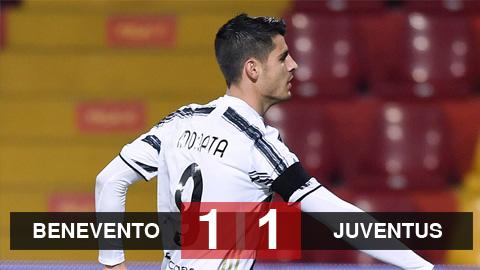 Kết quả Benevento 1-1 Juventus: 'Bà đầm già' hòa thất vọng