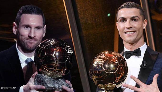 Ronaldo và Messi giờ đang sở hữu tổng cộng 11 Quả bóng Vàng