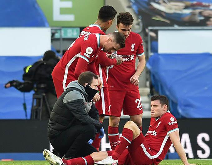 Klopp sẽ phải đau đầu vì chấn thương của Milner