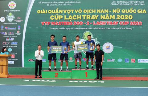 Cặp đôi liên quân Lý Hoàng Nam/Lê Quốc Khánh vô địch đôi nam VTF Masters 500-2 năm 2020