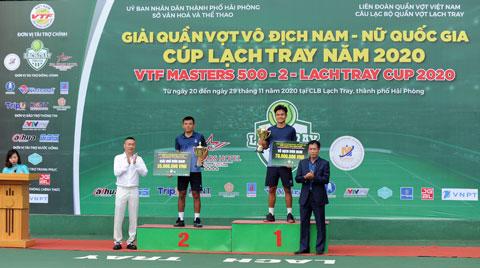 Trịnh Linh Giang vô địch đơn nam VTF Masters 500-2 năm 2020