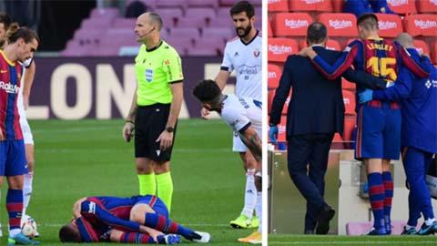 HLV Koeman tiết lộ tình trạng chấn thương của Lenglet sau trận Barca 4-0 Osasuna