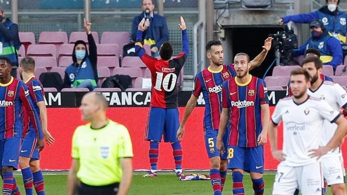 Messi vẫn đang chơi bóng ở đẳng cấp cao