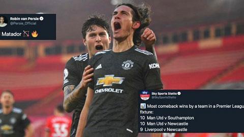 Cộng đồng mạng nổi sóng sau màn ngược dòng ấn tượng của Man United